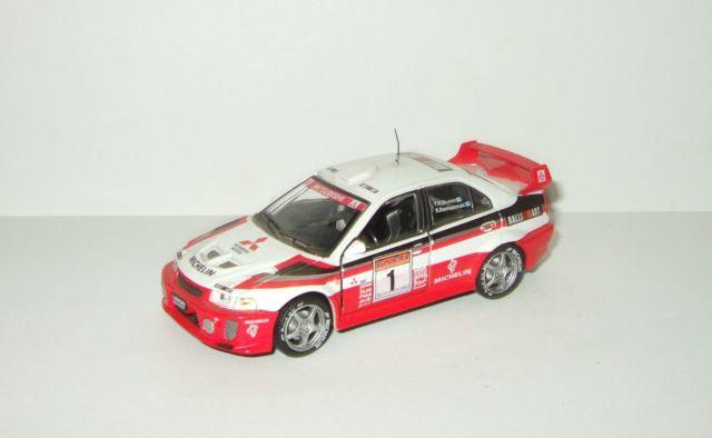 1:43 IXO Voiture RAM521 Mitsubishi Lancer Evo V WRC Rallye Sanremo 1998 Makinen