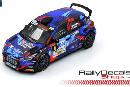 DECALS 1//43 HYUNDAI I20 R5 NEUVILLE RALLY YPRES 2018