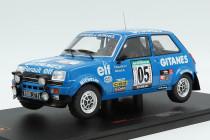 Renault 5 Alpine rally Bandama ivoire 1978 #4 Ragnotti gitanes Ixo nuevo 1:18