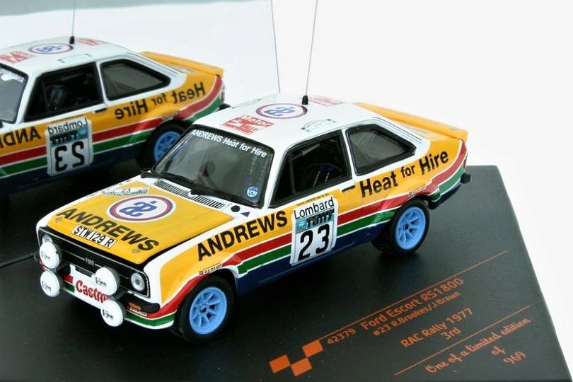 1:43 Vitesse 42379 RAC Rallye 1977 Russel Brooks Ford Escort RS 1800 Mk II