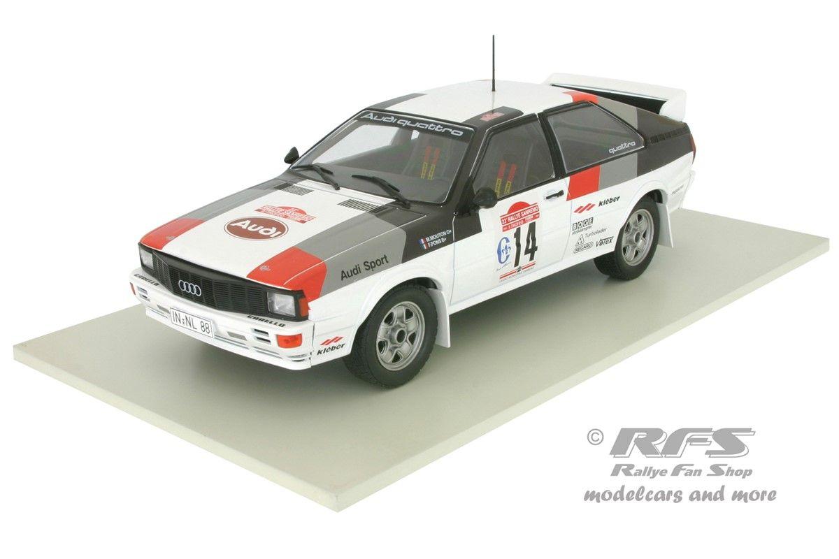 I0032 modellino auto Rally 1:43-1981 Audi Quattro #15 Tour de Corse